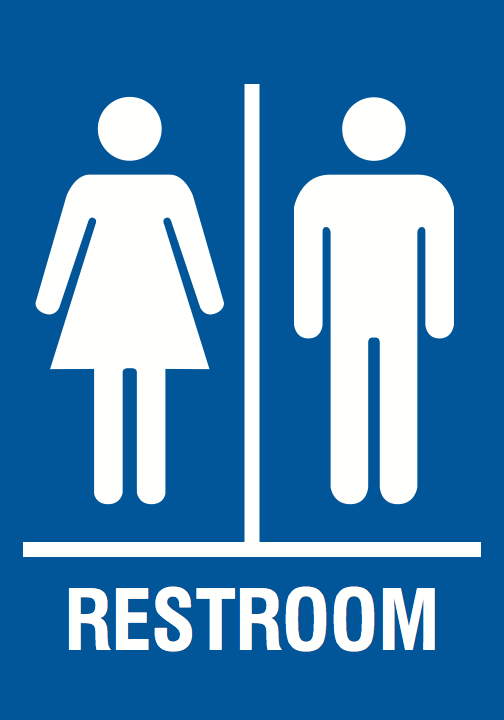 mens and womens bathroom signs. Family Restroom Blue Sign - Men Women Bathroom Signs Mens And Womens
