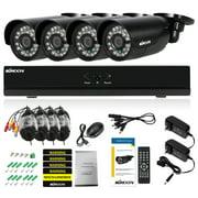 8CH CCTV System 960H D1 DVR 4pcs 800TVL IR Weatherproof Bullet Cameras Home Security System Surveillance Kit