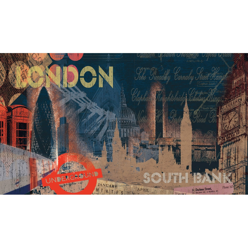 London Streets Giant Prepasted Wallpaper Accent Mural