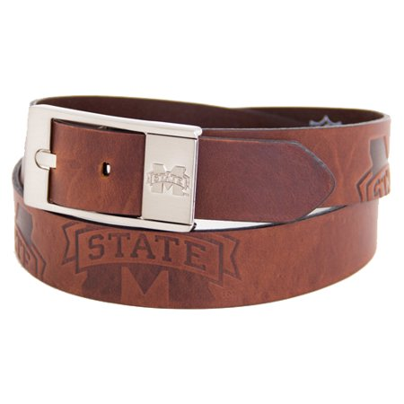 Mississippi State Bulldogs Brandish Leather Belt - Brown
