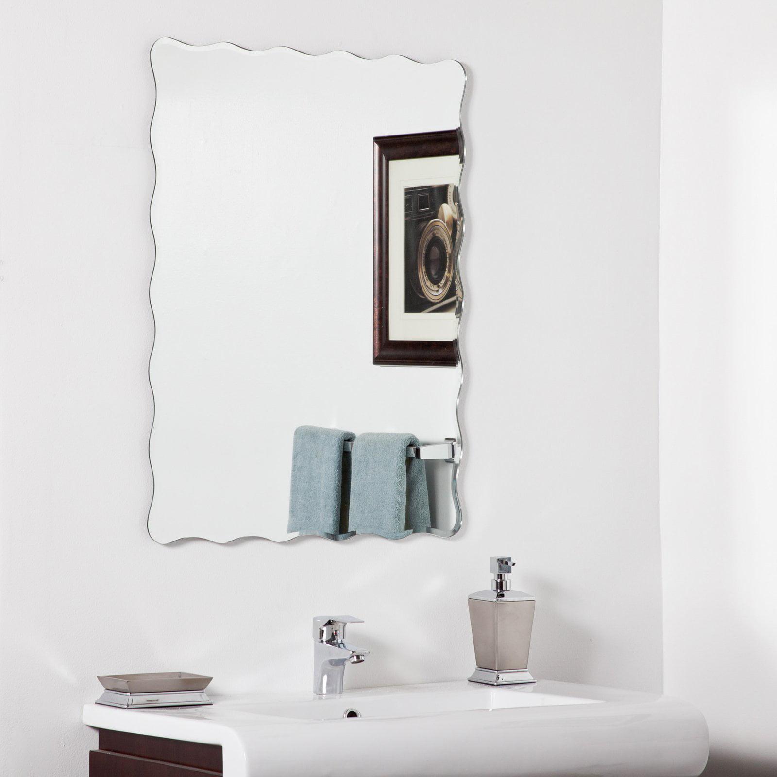 Décor Wonderland Angelina Modern Bathroom Mirror 23.6W x 31.5H in. by Decor Wonderland of US