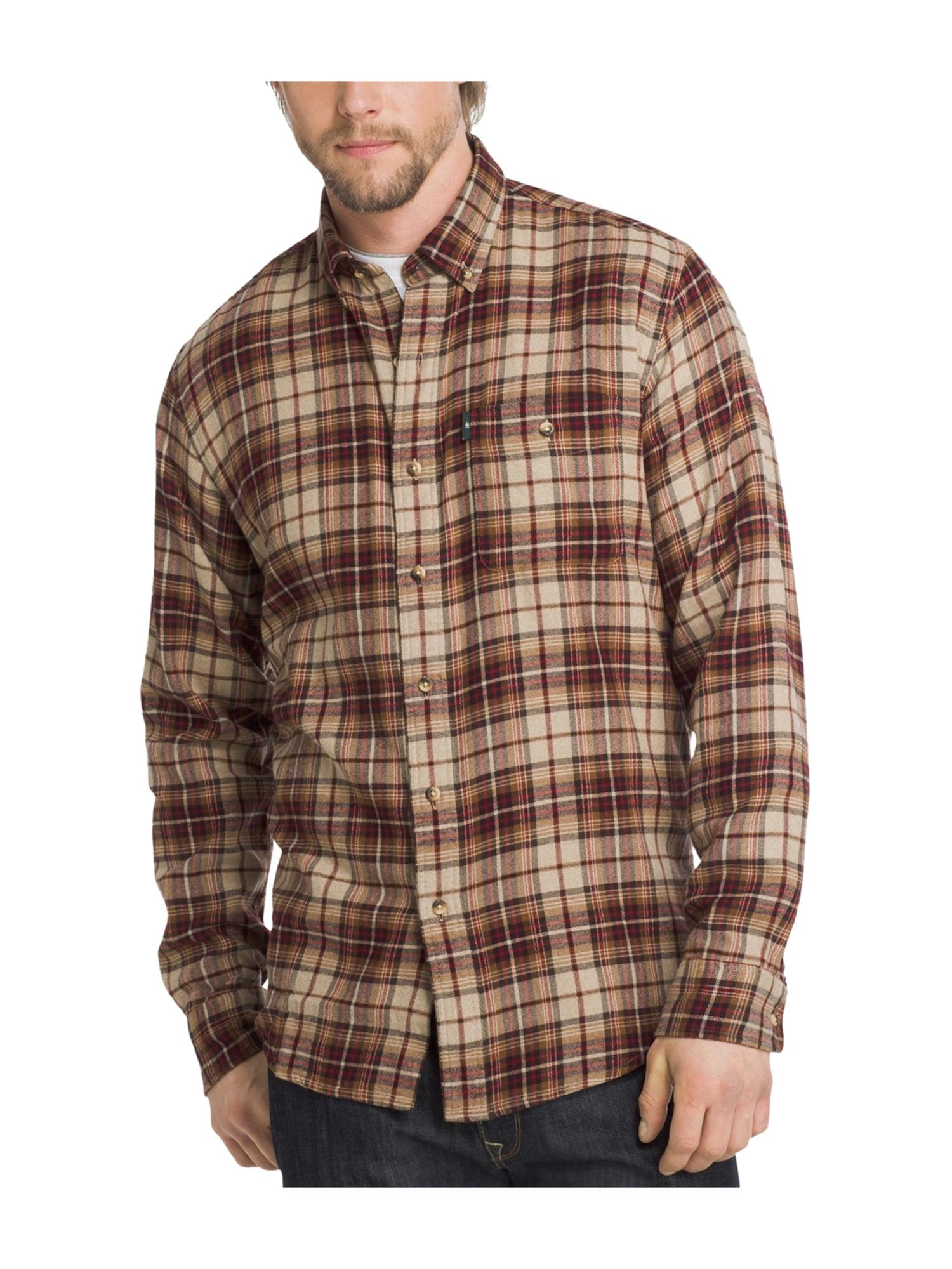 50e73c5e38 G.H. Bass & Co. Mens Flannel Button Up Shirt oystergry 3XL | Walmart ...