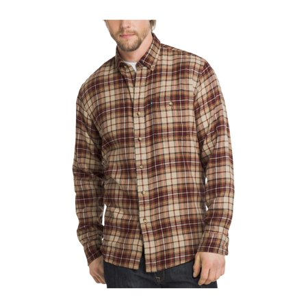 fcb91e3a47 G.H. Bass & Co. Mens Flannel Button Up Shirt oystergry 2XL - image 1 ...