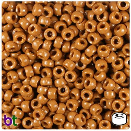 BeadTin Tiger Eye Opaque 6.5mm Mini Barrel Pony Beads -