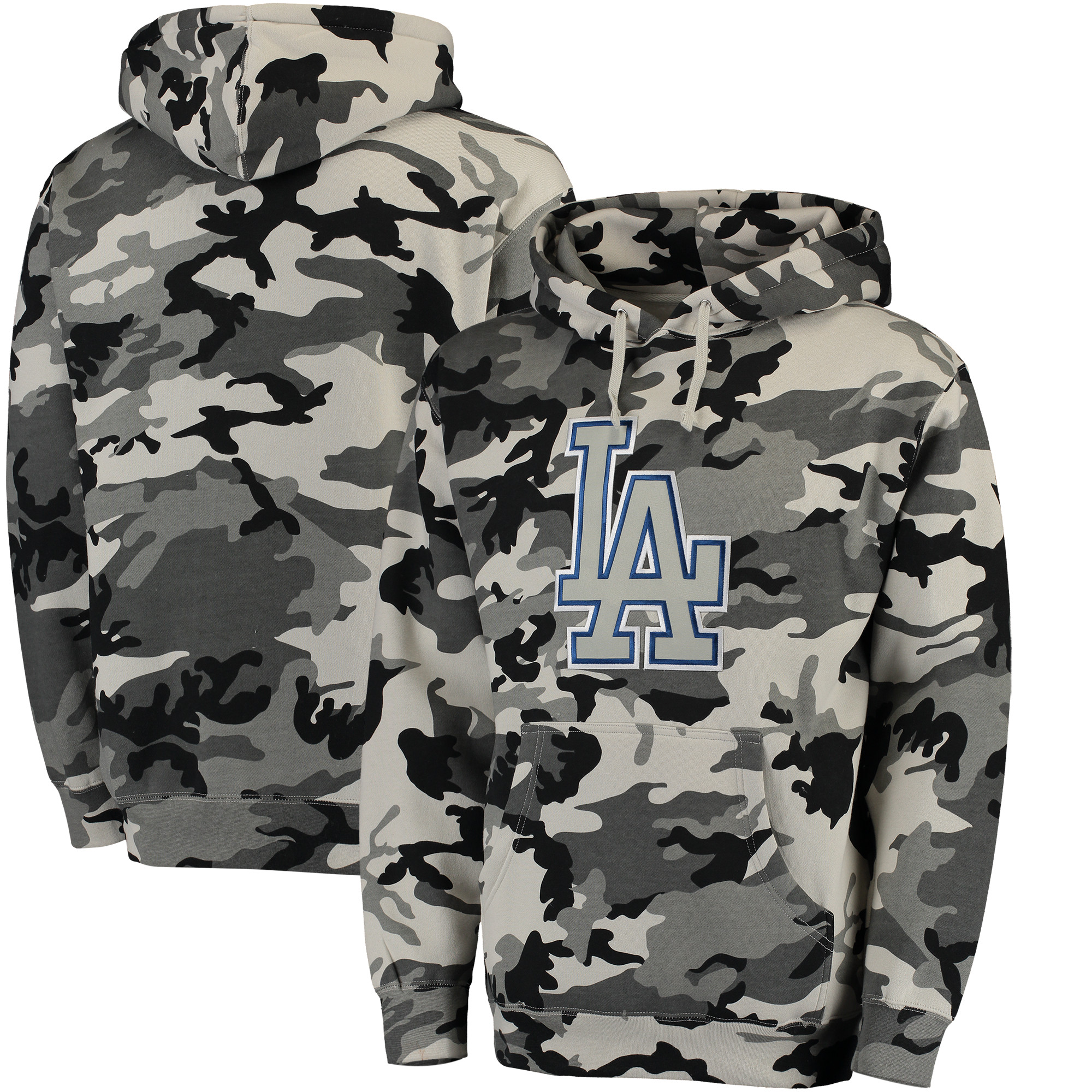 Los Angeles Dodgers Stitches Pullover Hoodie - Black/Camo