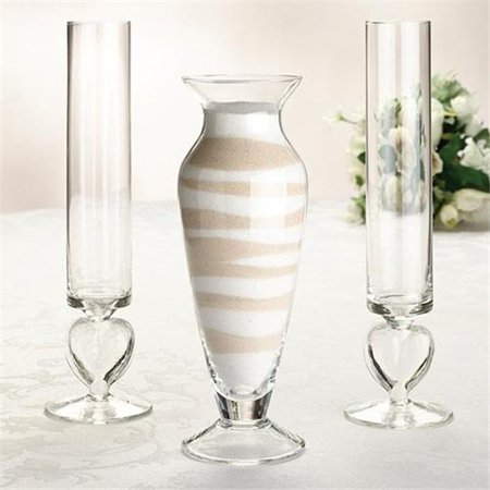 Lillian Rose Inc. US101 Glass Unity Sand Vase Set - Wedding