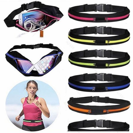 Portable Running Bum Bag Fanny Pack Travel Waist Bags Money Zip Belt Pouch Sports Wallet