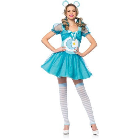 Leg Avenue Care Bears Bedtime Bear Adult Halloween Costume - Bear Face For Halloween