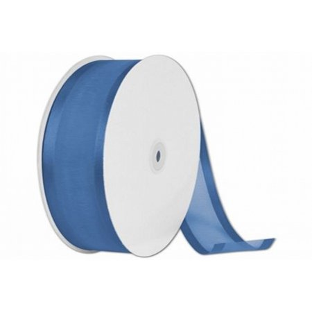 "1.5"" Organza Satin Edged Ribbon 25 Yards Bolt - Navy Blue"