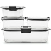 Rubbermaid Brilliance Leak-Proof Food Storage Containers, Set of 5 (10 Pieces Total)