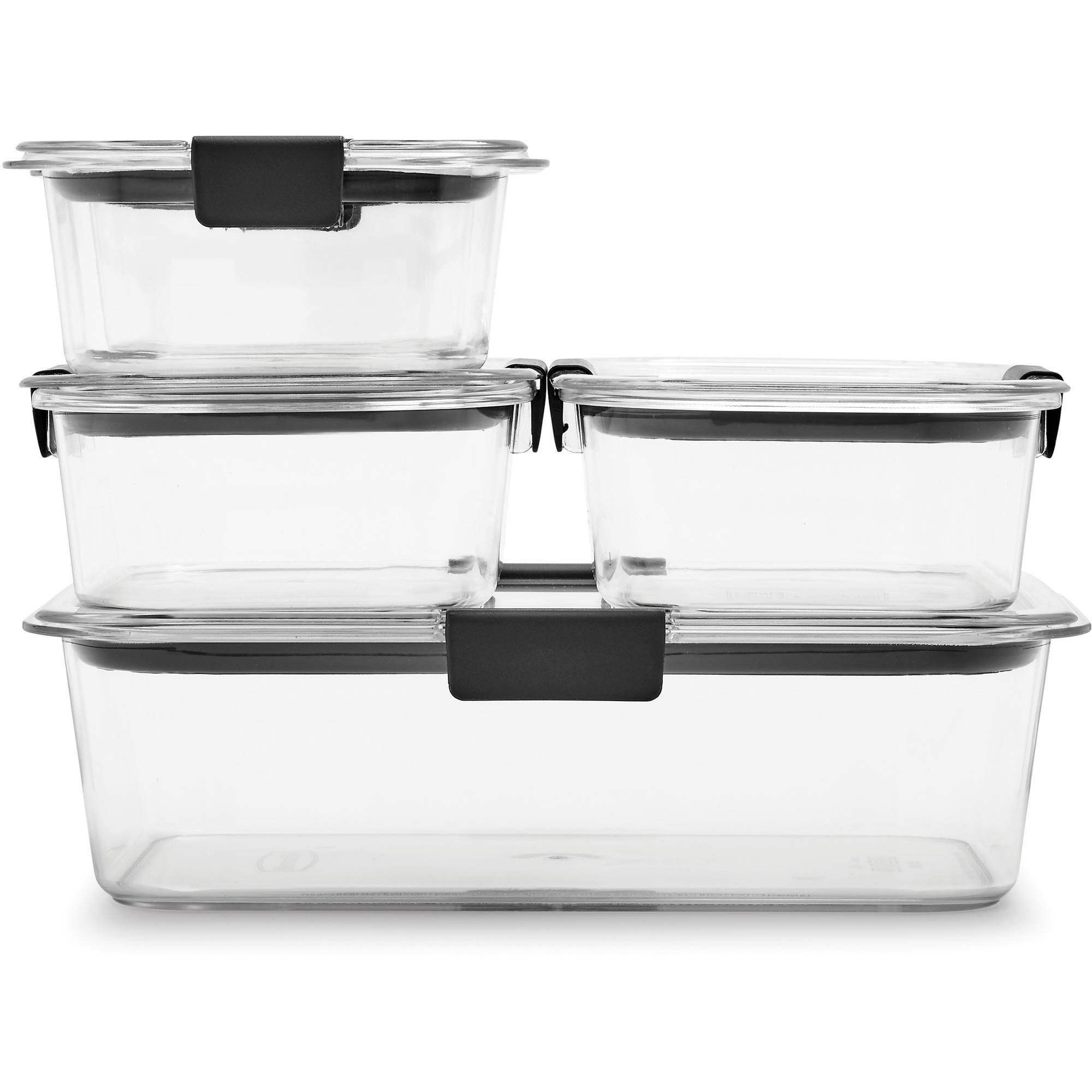 Rubbermaid Brilliance Food Storage Container, 10-Piece Set, Clear
