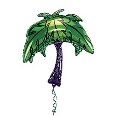Palm Tree Out Of Balloons (Palm Tree Mylar Balloon)
