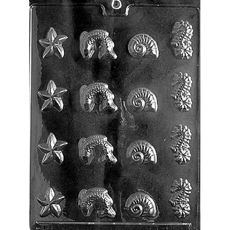 Grandmama's Goodies N005 Sea Assortment Chocolate Candy Soap Mold with Exclusive Molding Instructions