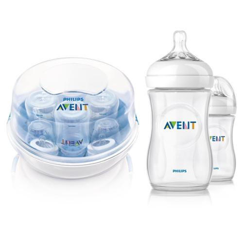 Philips AVENT Microwave Steam Sterilizer with 9oz Bottles