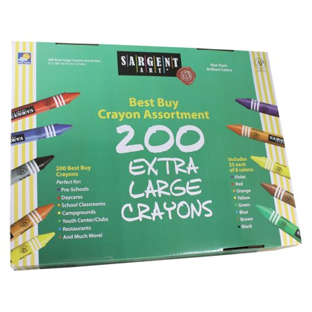Sargent Art® Best-Buy Crayon Asst, Extra Lg Size, 200