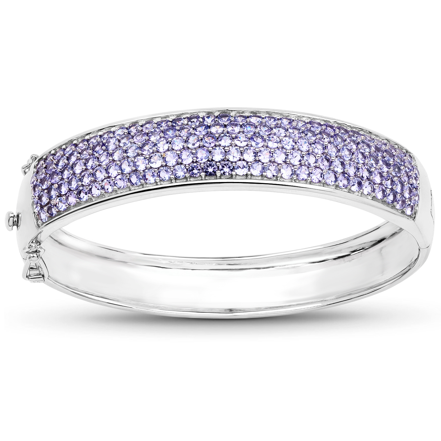 Genuine Round Tanzanite Bracelet in Sterling Silver by Bonyak Jewelry