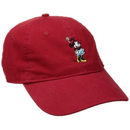 Disney Authentic Baseball Hat Cap Womens Teens Adult Sz - Minnie Mouse, Red (Red And Black Minnie Mouse Tutu)