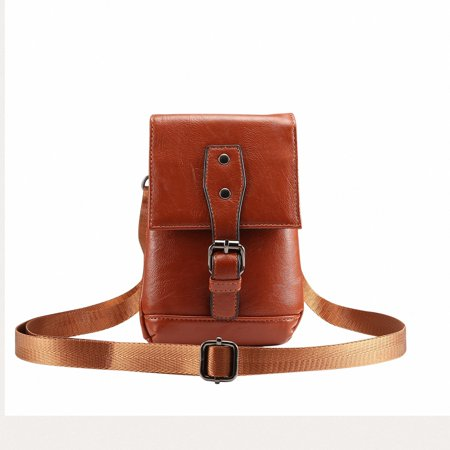 Universal Cellphone Case, Allytech Crossbody Waist Pack Messenger Bag Pouch Vertical Smartphone Holster Case with Belt Clip Hook Loop Wallet for All Phones Tablet under 6.5inch, - Cross Case Pack