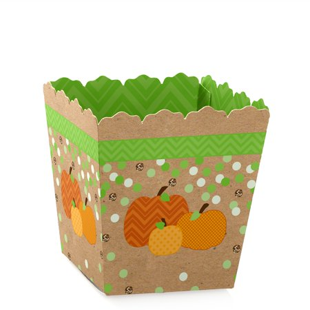 Pumpkin Patch - Fall & Halloween Party - Party Mini Favor Boxes - Baby Shower or Birthday Party Treat Candy Boxes - (Halloween Birthday)