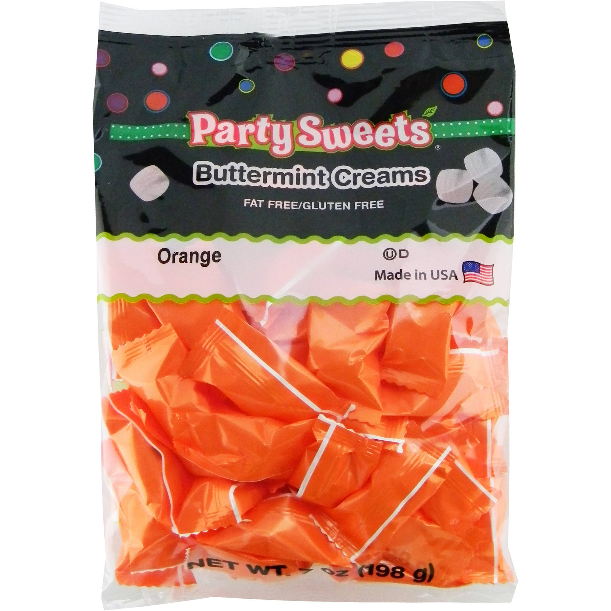 Party Sweets Orange Buttermint Creams Candy, 7 oz
