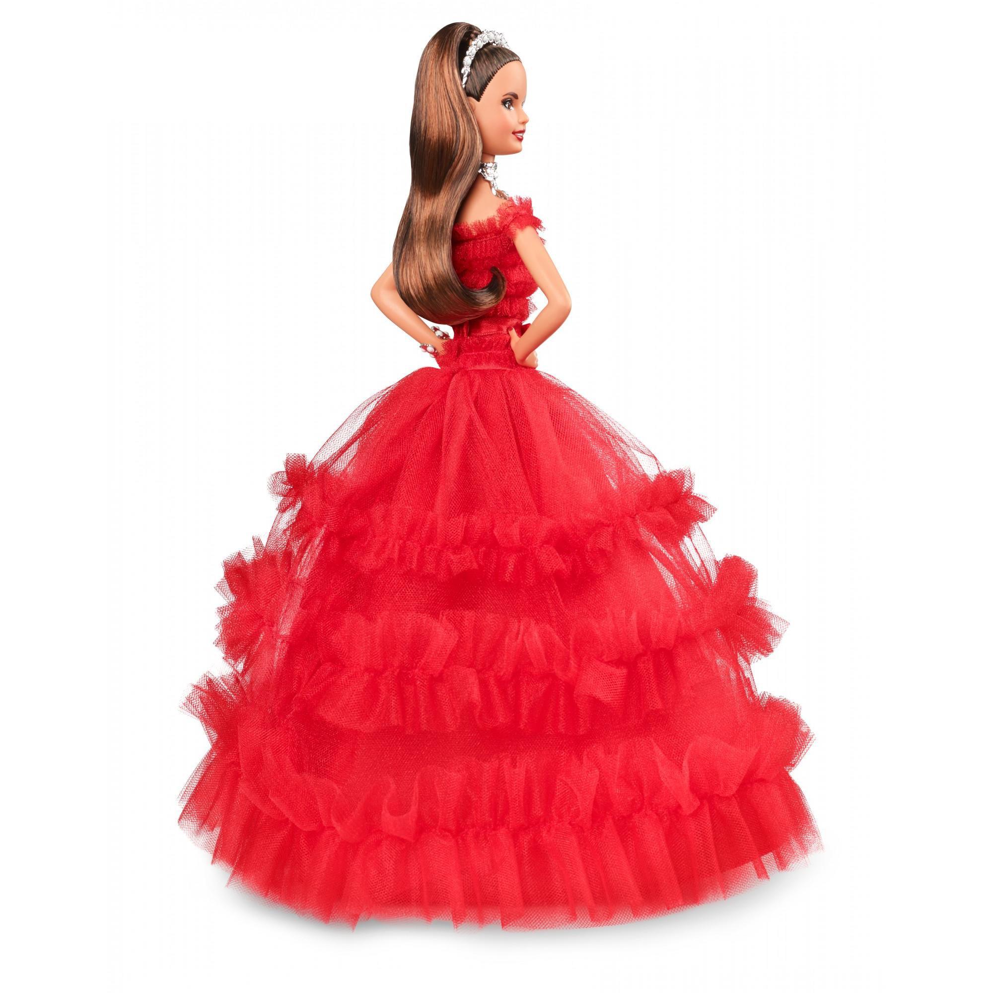 Brunette 2017 Best Girls CHRISTMAS Gift HOLIDAY BARBIE Collector Teresa Doll