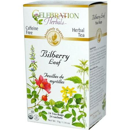 Celebration Herbals thé à base de plantes bio sans caféine Myrtille feuille 24 sacs de thé à base de plantes