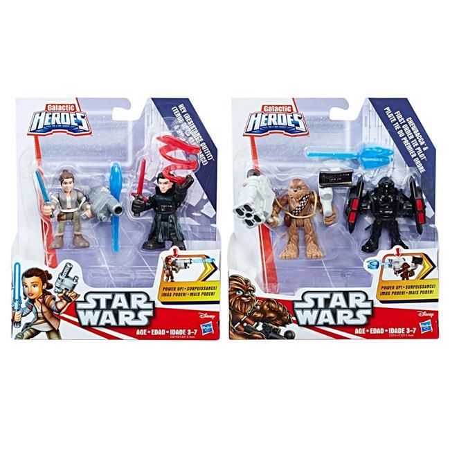 Hasbro HSBC0213 Playskool Star Wars Galactic Heroes Power Up 2-Pack, Assorted Colors Set... by Hasbro