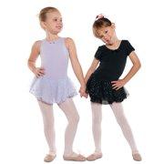 Danshuz Little Girl Black Short Sleeve Skirt Ballet Leotard Size 2-14 by Danshuz