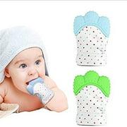 Teething Toys - Baby Teething Mitten for Babies Self Soothing Teether & Teething Pain Relief Toy - 2 SET!
