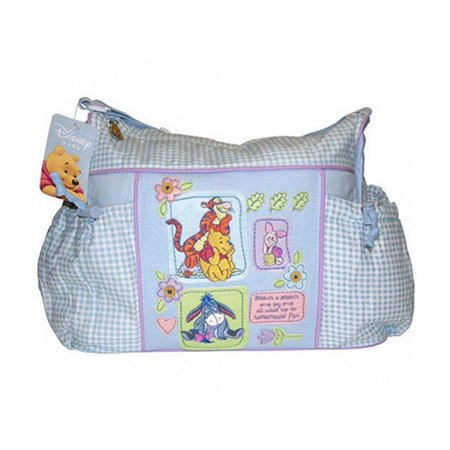 Infant Travel Accessories Disney Baby Winnie The Pooh Blue Gingham Diaper Bag