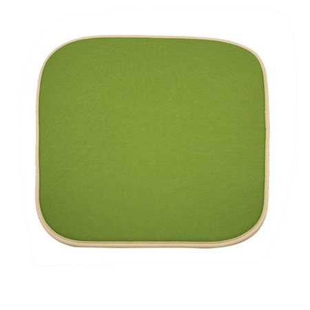 Green Square Shaped  Cushion Mat w 2 Plastic Buckle for Car Automobile
