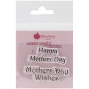 """Woodware Clear Stamps 2.5""""X1.75""""-Happy Mother's Day"""