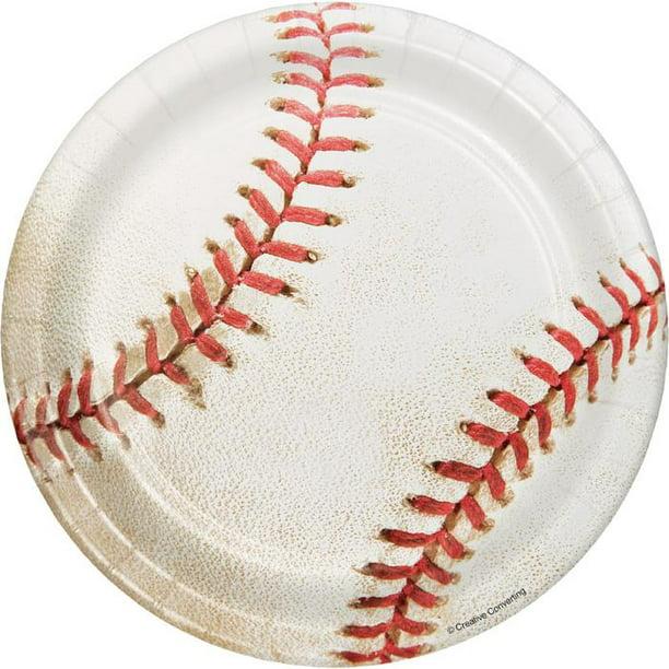 8ct Baseball Dessert Plates