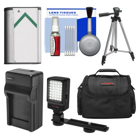 Essentials Bundle for Sony Handycam HDR-CX405, CX440 & PJ440 Camcorders with Case + LED Light + NP-BX1 Battery & Charger + Tripod Kit ()