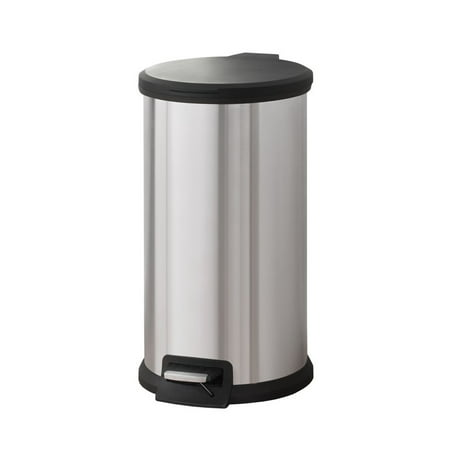 Mainstays 7.9G Stainless Steel Round Waste Can