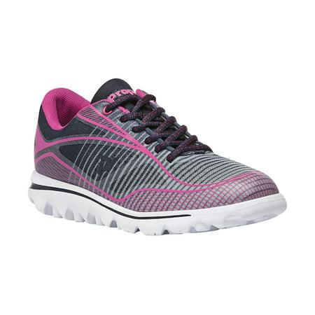 Propet Billie - Women's Rejuve Athletic Shoes - Navy/Pink