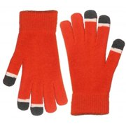 Minx NY VHT10356-ORG Touch screen gloves, Micro Velvet with glow in the dark tips