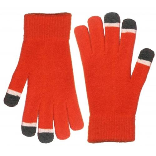 Vintage Home VHT10356-ORG Touch screen gloves, Micro Velvet with glow in the dark tips