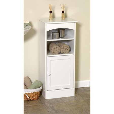 Wood Bathroom Storage Cabinet White