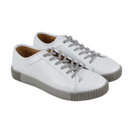 Michael Bastin Lyons Mens White Leather Lace Up Sneakers Shoes ()