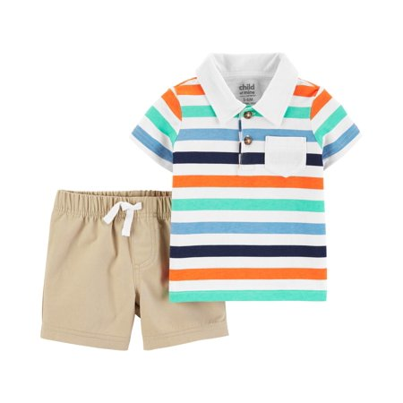 Short Sleeve Polo Shirt and Shorts, 2 pc set (Baby Boys)