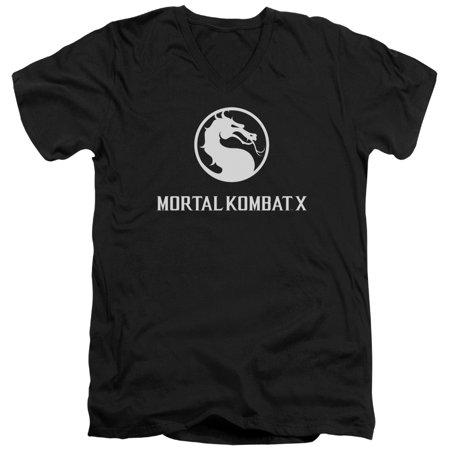 Mortal Kombat X Dragon Logo Mens V-Neck Shirt