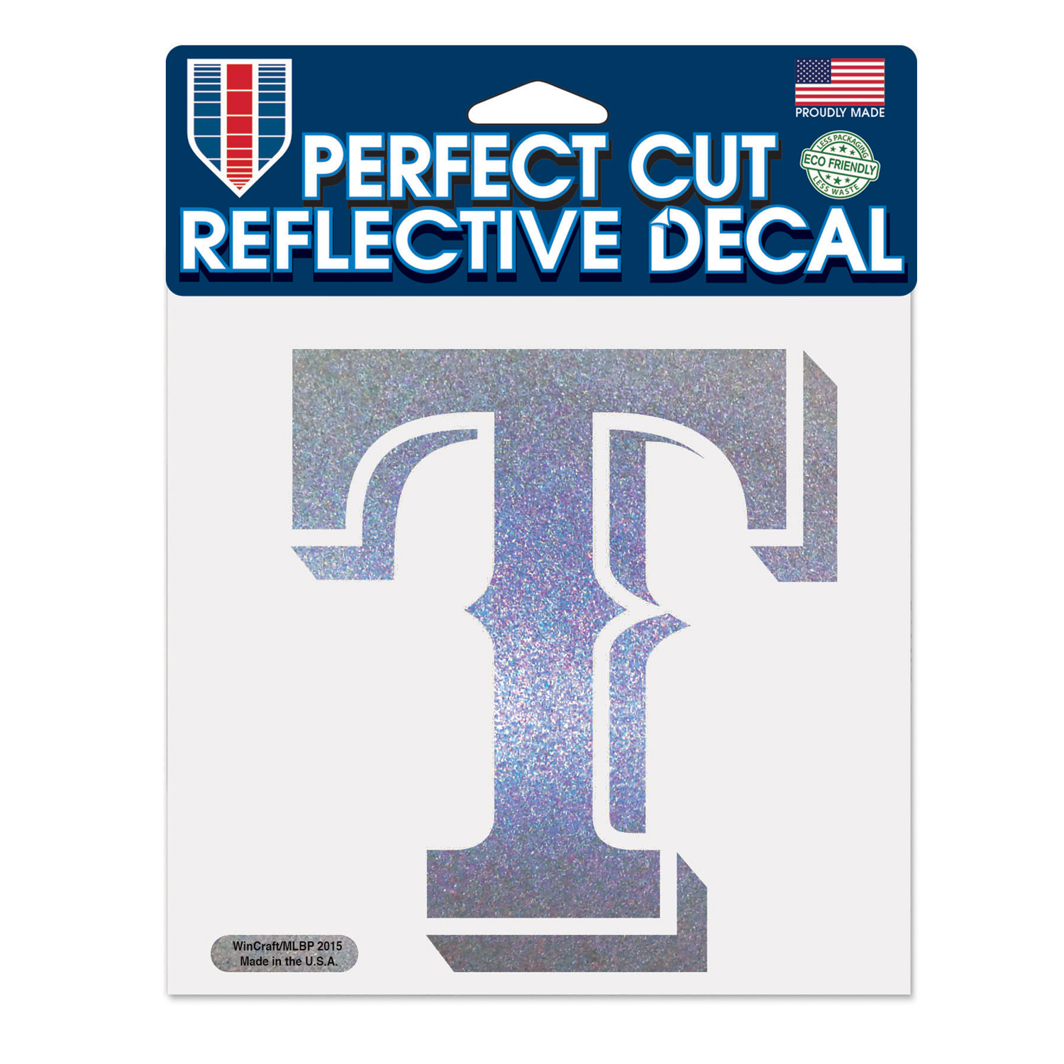 """Texas Rangers WinCraft 6"""" x 6"""" Reflective Perfect Cut Decal - No Size"""