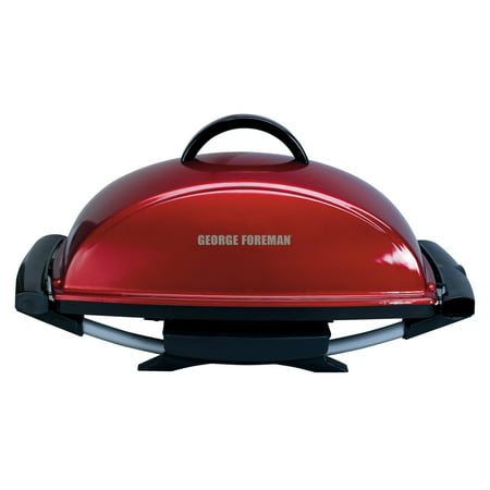 George Foreman 12-Serving Indoor/Outdoor Rectangular Electric Grill, Red, GFO201R-T