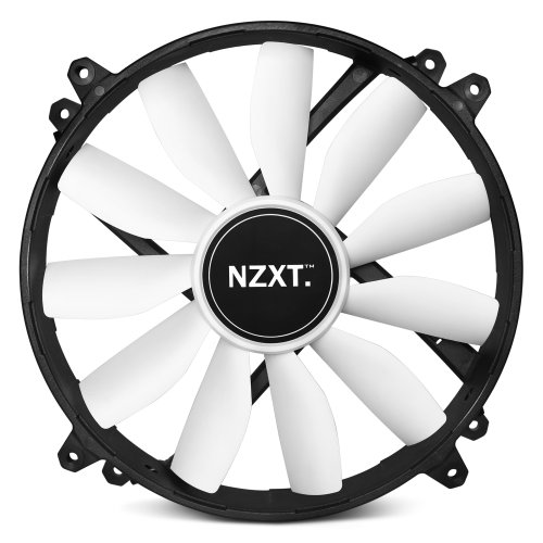 "Nzxt Fz 200mm Nonled Cooling Fan - 1 X 7.87"" - 700 Rpm - Sleeve Bearing (135448)"