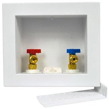 Oatey 38532 Washing Machine Outlet Box with 0.25 Turn Brass Ball Valves