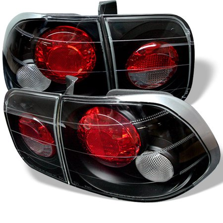4dr Tail Lamps 4 Piece (Fits 96-98 Civic 4Dr JDM Black Altezza Tail Lights Lamps Upgrade Left+Right Set)