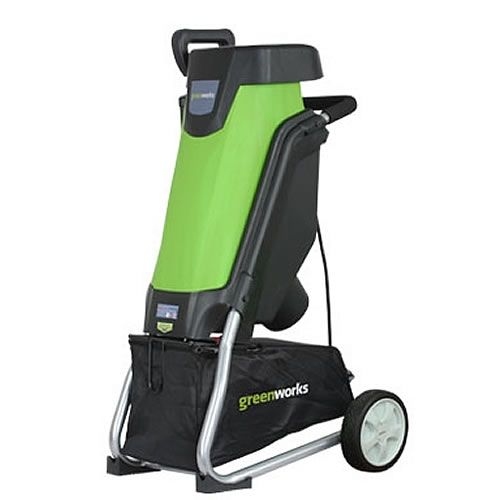 """Greenworks 24052 1-3/8"""" 15-Amp Electric Powered Wood Chipper"""