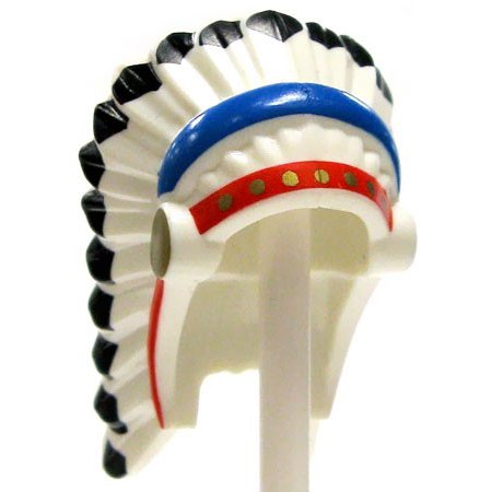 LEGO Feathered Indian Headdress with Red & Blue Trim [No Packaging]