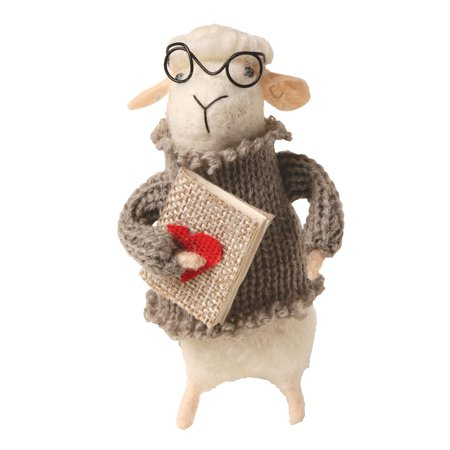 Felted Wool Sheep in Clothes Decorative Figurines - Set of 5 Cute Animals - Teacher Catalogs